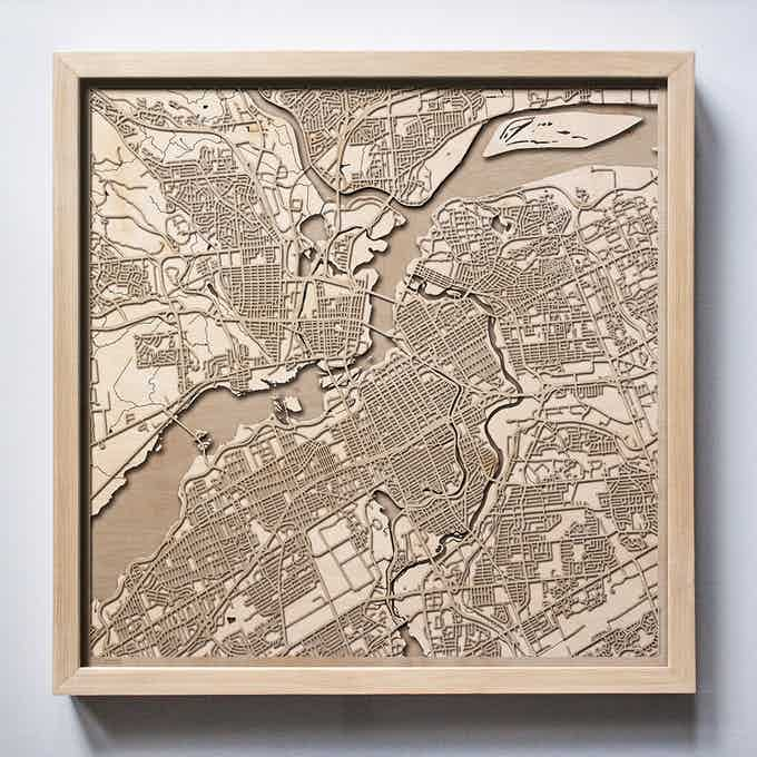 Ottawa CityWood Laser Cut Wooden Map