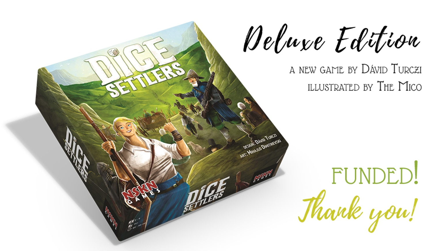 Inhabit a new world of possibilities! Explore the land, research technologies, and build your own pool out of over 50 custom dice!