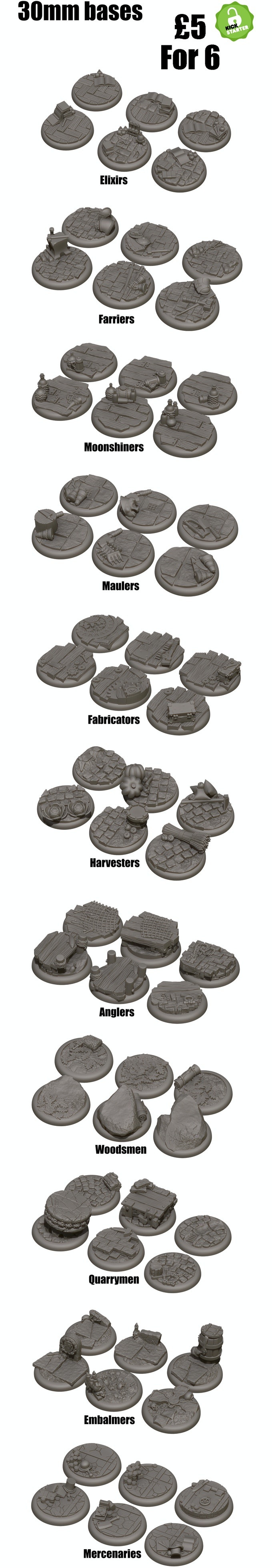 Themed 30mm team bases