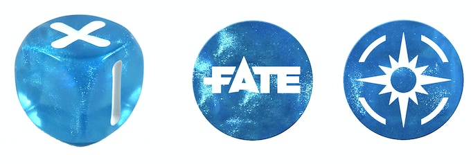Fate Point tokens to match your dice: our other initial funding goal! Details below.