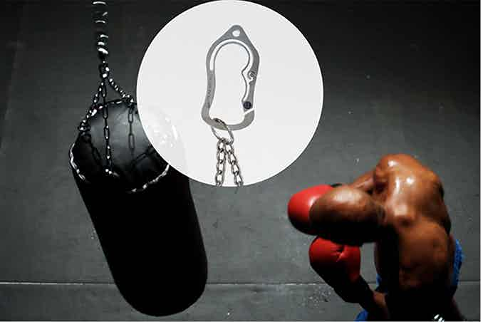 Hold up a punching bag? Sure, why not?