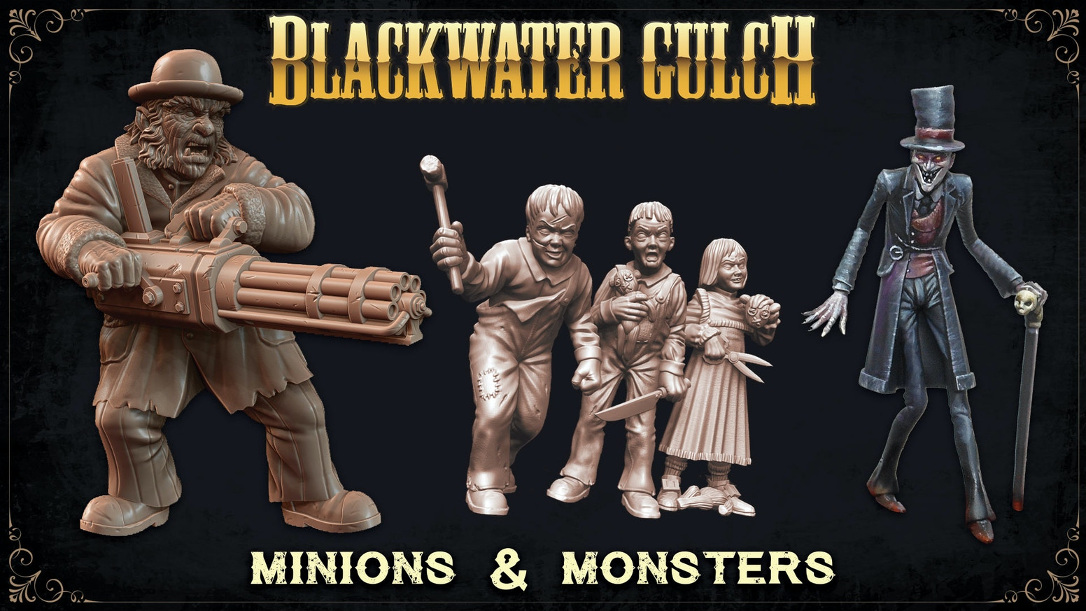 Blackwater Gulch is a Western Horror Skirmish Game, set in a late 1800's alternate world where things certainly do go bump in the night