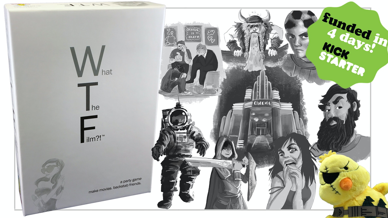 A party game about making movies, destroying friendships and a Russian DMV...WTF?! available exclusively at Target and Target.com