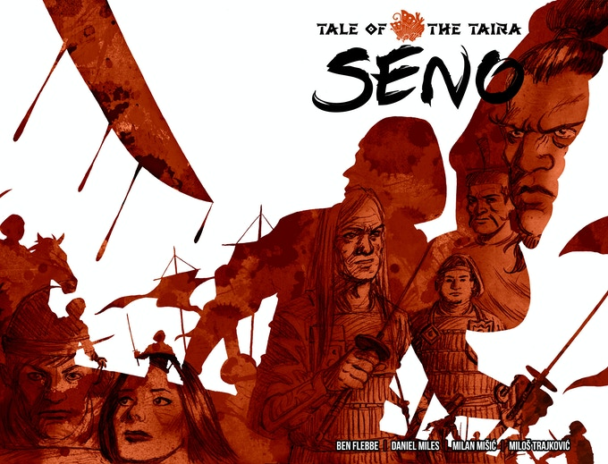 "The cover to our first story: ""The Death of Seno"""