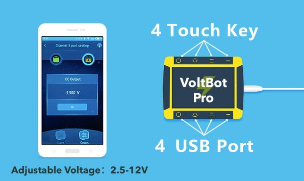 VoltBot - Graphical Quick Charger & DC Power Supply by Apple