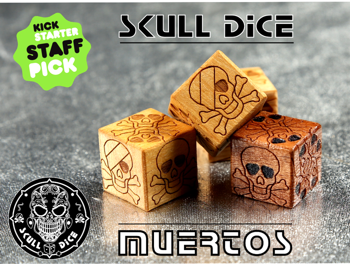 MUERTOS-Skull Dice is a project about Dice in the original design and of different materials