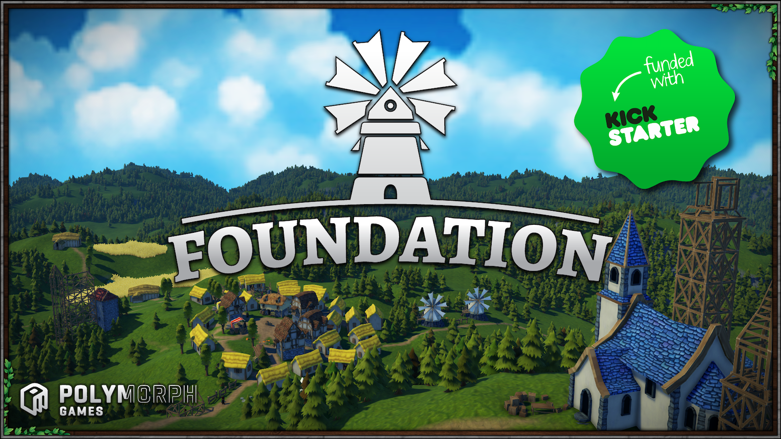Foundation is a grid-less, sprawling medieval city building simulation with a heavy focus on organic development and monument creation.