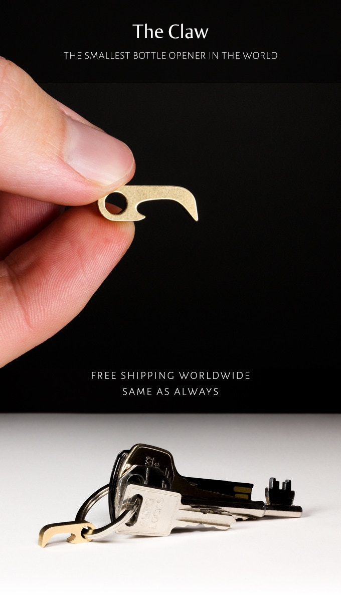 claw smallest bottle opener ever by malboro kane kickstarter. Black Bedroom Furniture Sets. Home Design Ideas