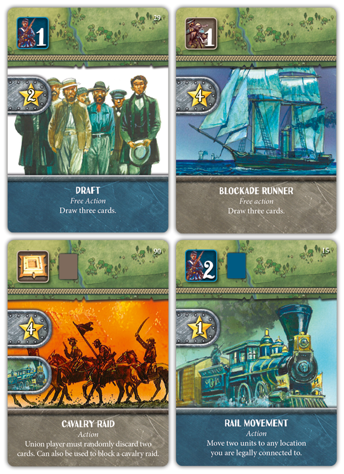 Production samples of some special actions you can play to strengthen your strategic position.