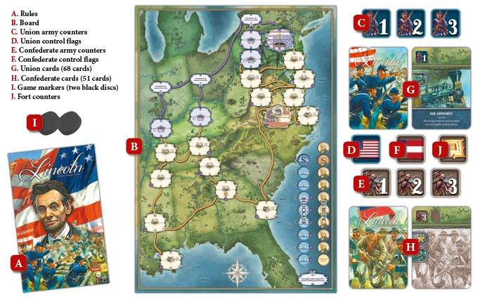Martin Wallace S Lincoln Acw Board Game By Will Townshend Psc Games