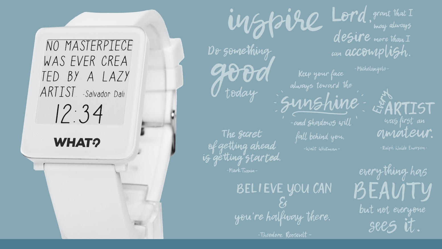Quotes Watch - The Art of Words by What? Watch — Kickstarter