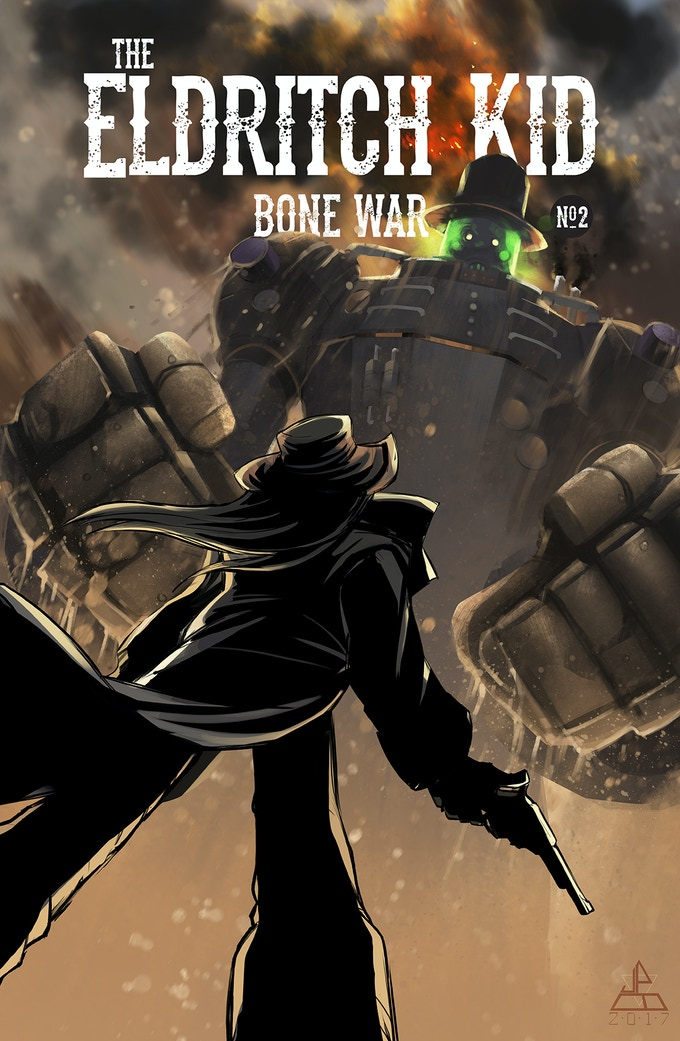 James Brouwer's cover art to BONE WAR Chapter #2