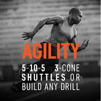 Track any agility drill from a 5-10- 5, 3-cone drill, shuttle drills, and more