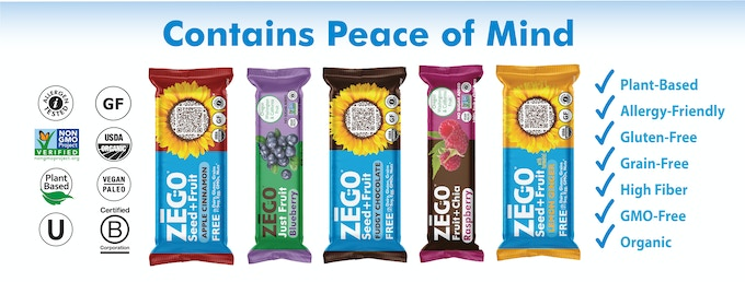 We make 3 styles of snack bars: Just Fruit, Fruit+Chia & our organic Seed+Fruit protein bar