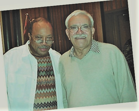 Sammy with Quincy. Mutual admiration helped forge a great friendship.