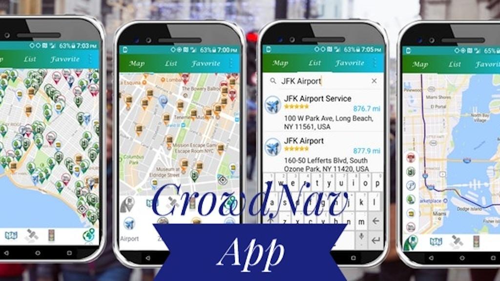 CrowdNav, Places Crowd Status updates app project video thumbnail