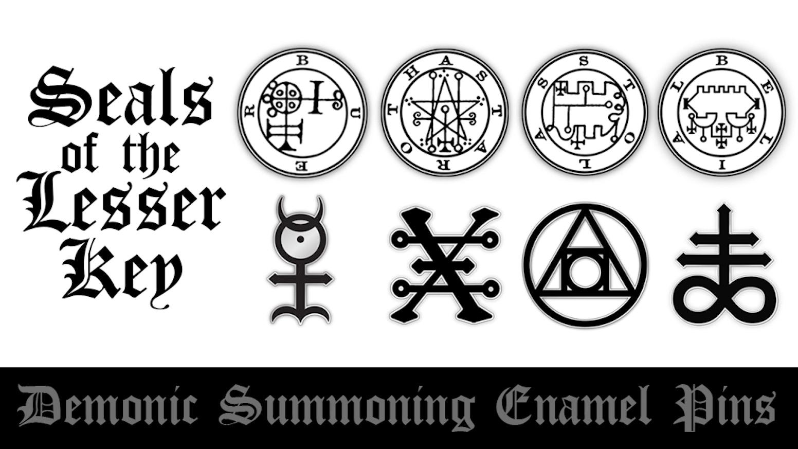 The Seals of the Lesser Key: Demon Enamel Pins by Simon