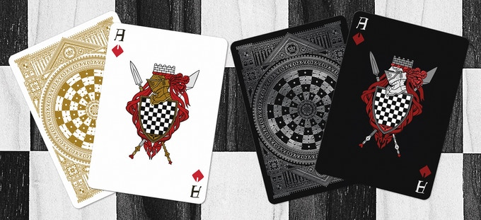 Ace of Diamonds (Black deck on left & White deck on right)