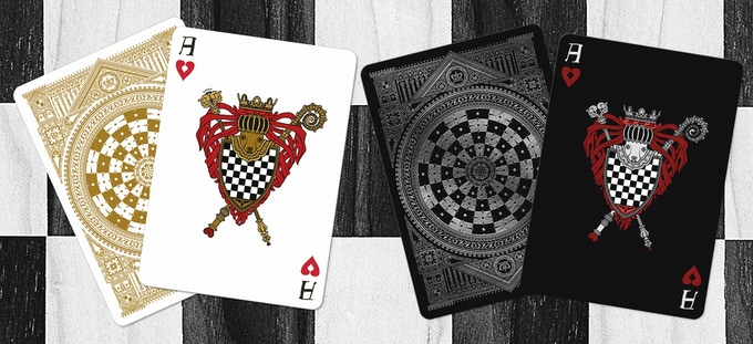 Ace of Hearts (Black deck on left & White deck on right)