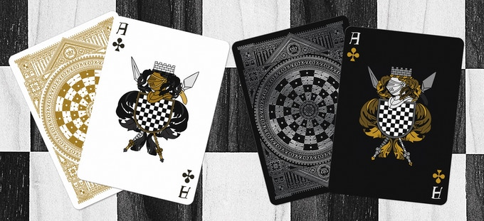 Ace of Clubs (Black deck on left & White deck on right)