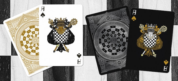Ace of Spades (Black deck on left & White deck on right)
