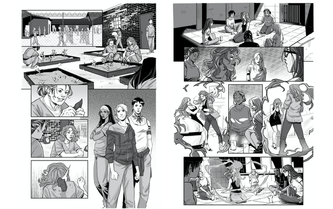 Interior pages of PRISON WITCH by the amazing Erica D'Urso!