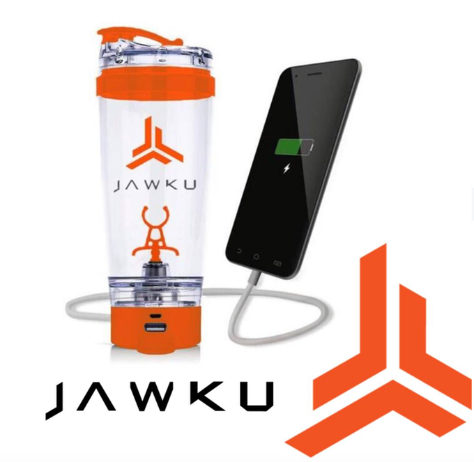JAWKU Power Shaker Bottle With USB Charging Port To Charge Your JAWKU Speed Or Mobile Device
