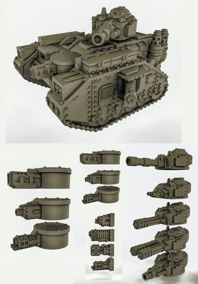 Main battle tank comes with multiple turret, hull and sponson guns.
