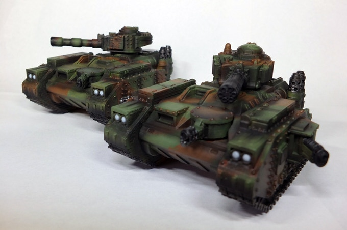 Main battle tank, with different loadouts. Printed on a Flash forge finder FDM printer