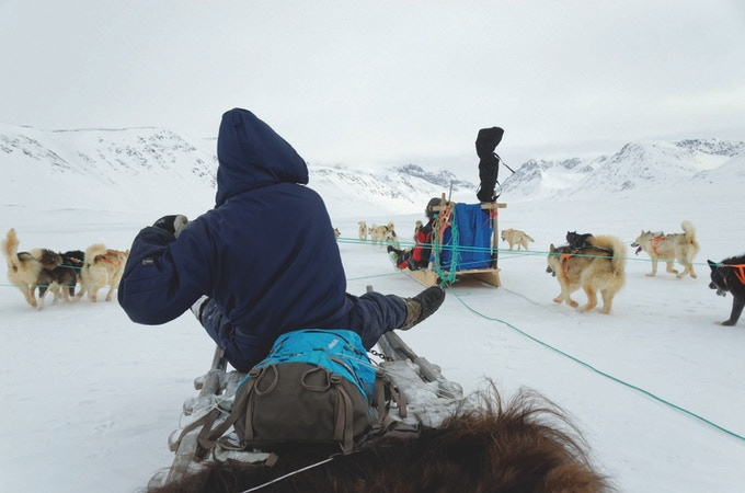 Read about a winter dog sledge skiing expedition with Inuits from Northeast Greenland.