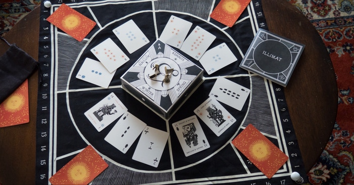 The Decemberists Present: ILLIMAT  A Game by Keith Baker for 2-4 players