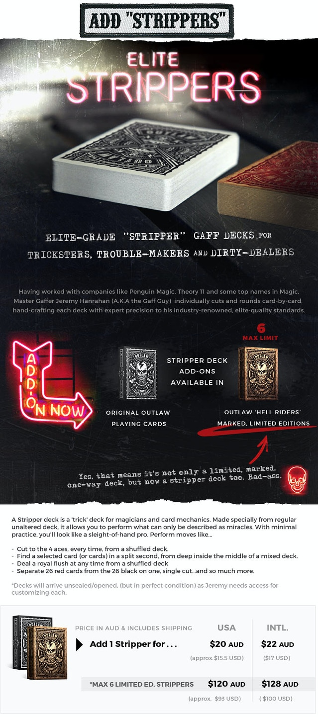 OUTLAW Strippers Now Available To Add On