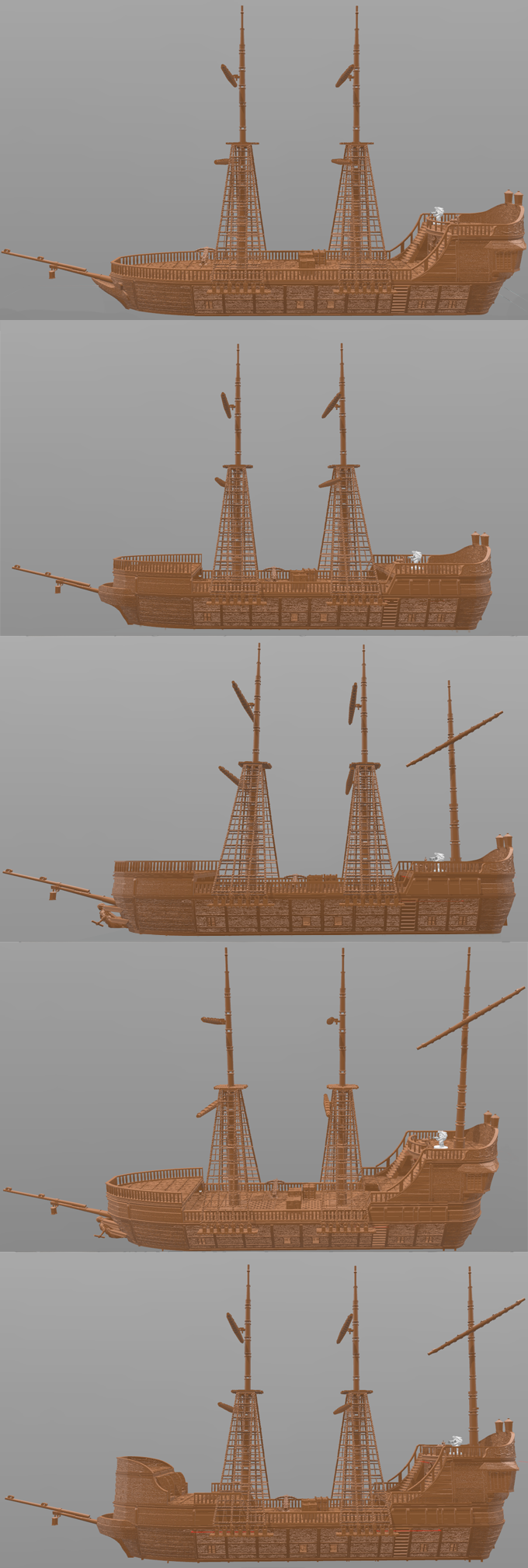 Shipworks 3d Printable Ship Terrain By Chris Hunt Kickstarter Trebuchet Diagram Sierram Licensed For Noncommercial Use Only A Few Variants From The Core Set To Peak Your Imagination
