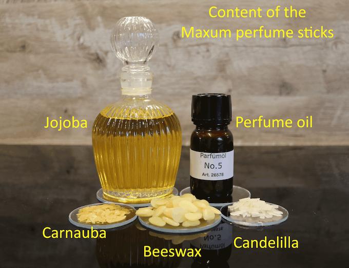 Content of the Maxum perfume sticks