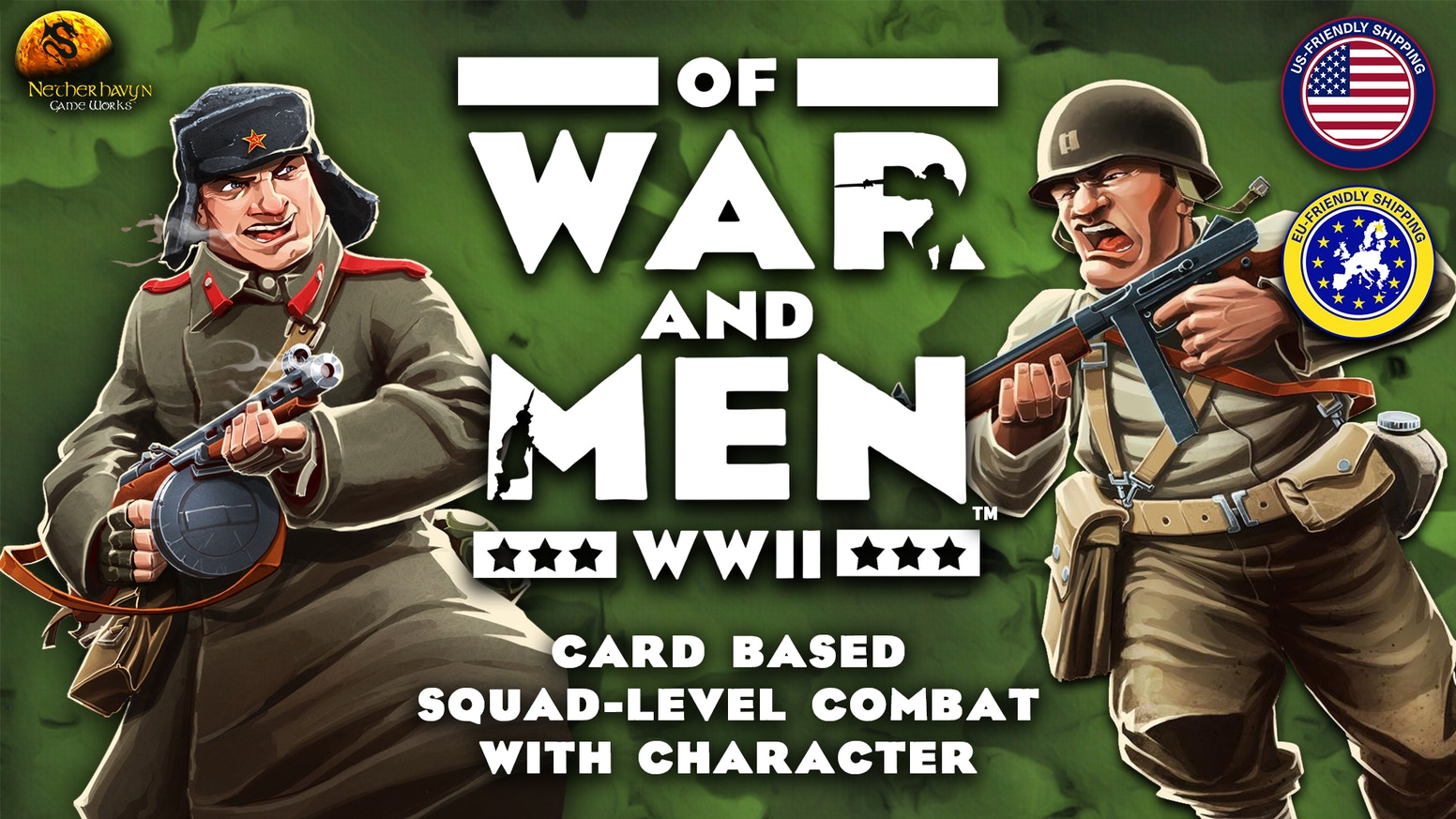 Command unique fire teams. Control the battlefield. Win the war. This is a squad-level, WW2 strategy card game for 2-4 players.