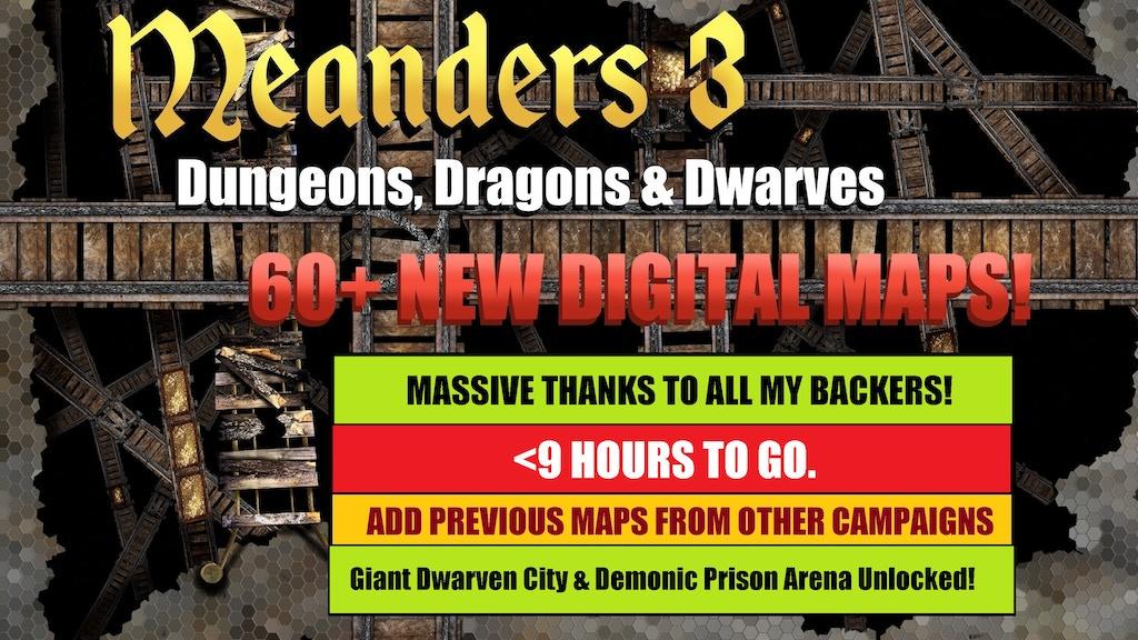 Meanders 3 Dungeons Dragons Dwarves By Kris Mcdermott Kickstarter