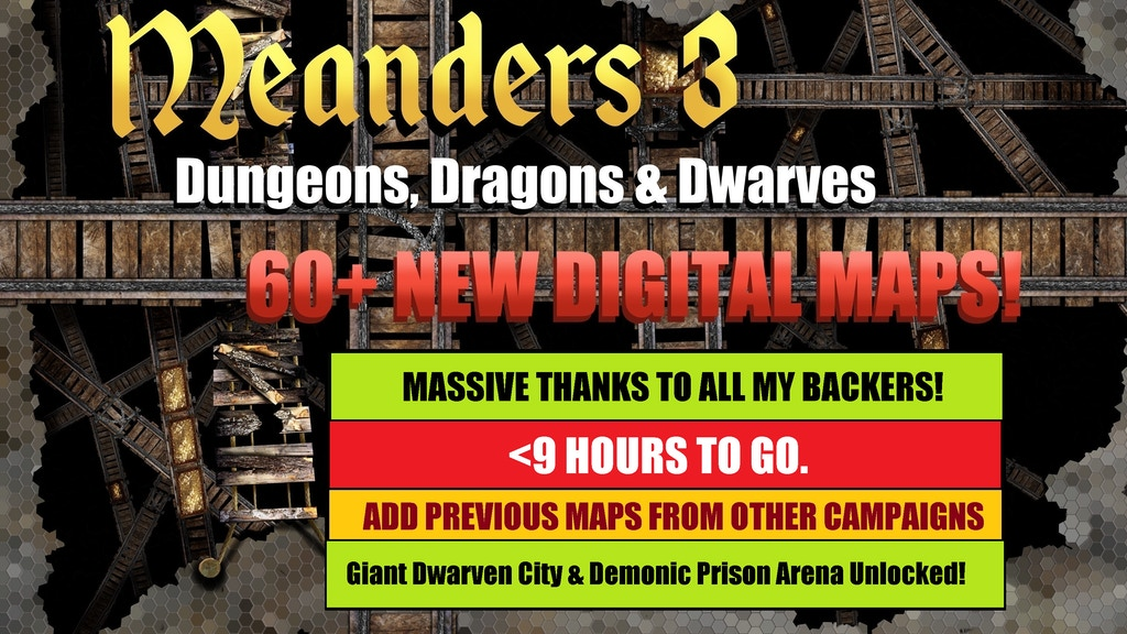 60+ New Expansions to the Meanders RPG Digital Map franchise inc. All New Interiors with Multiple Floors & Furnishing.