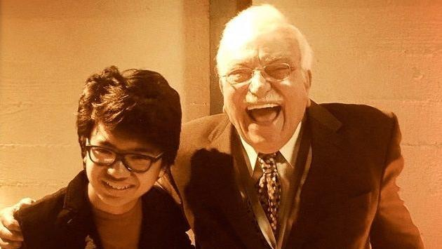 Sammy pictured at the 2017 Grammy's with nominee Joey Alexander. Sammy is 80 years his senior.