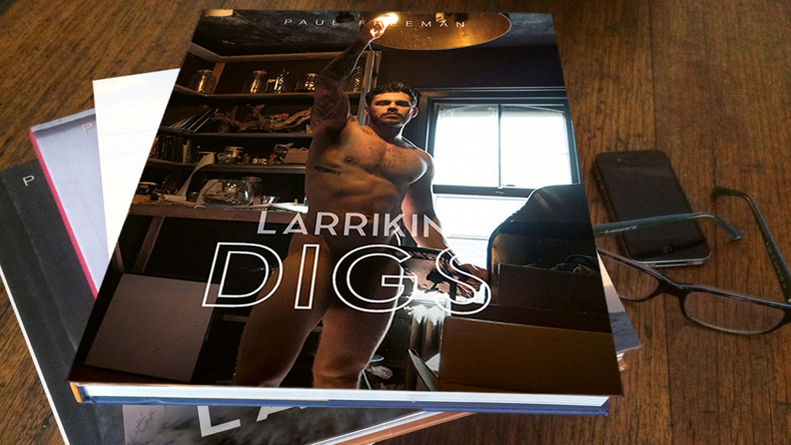 I'm publishing and distributing two new books of male nudes and portraits, LARRIKIN DIGS and LARRIKIN LADS, continuing this book series