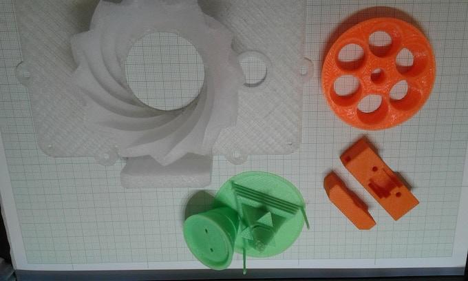 Printed parts sampler