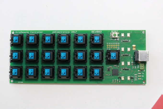 Manually assembled OctoRemote PCB