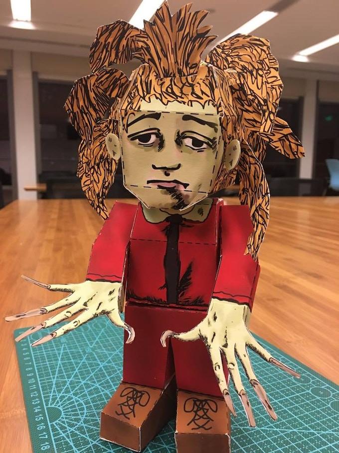 Shockheaded Peter 3D Paper Craft