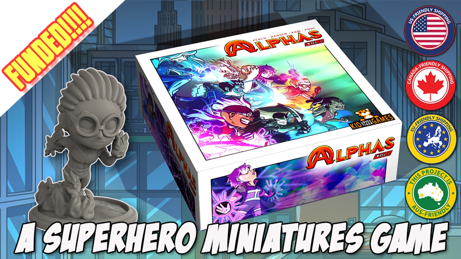 Alphas is a tactical superhero themed game with Graphic Novels, a Progressive Story, Objective Skirmishes & Highly Detailed Miniatures!