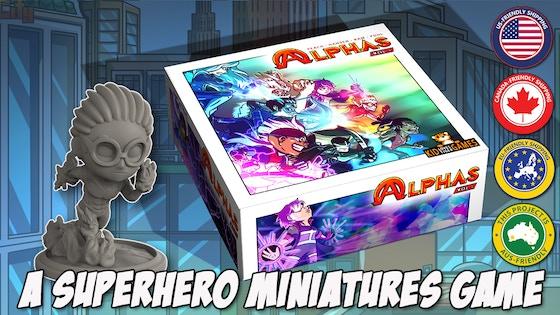 Alphas - A Superhero Miniatures Game