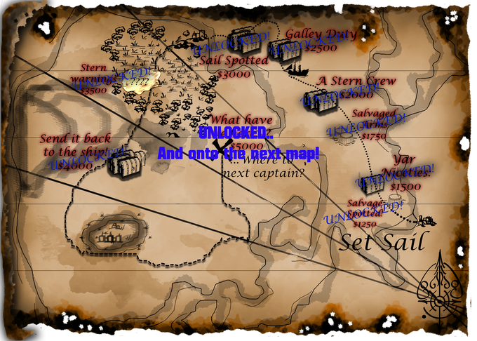 Initial map fully unlocked! Off to the next leg of the journey!