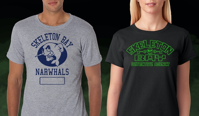 Choose either a Skeleton Bay High School gym shirt, or one with the Skeleton Bay logo on it