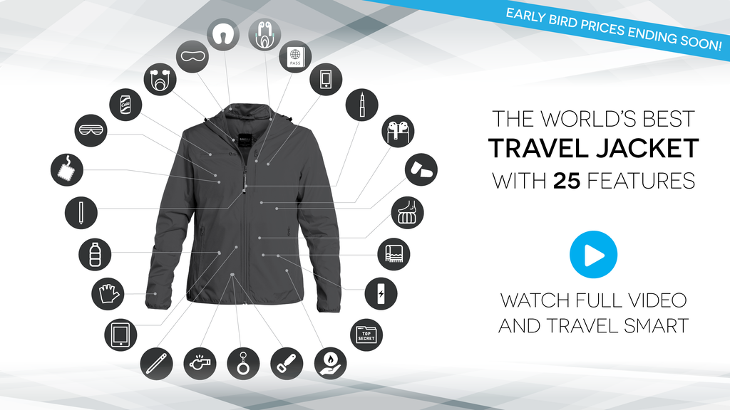 The World's Best TRAVEL JACKET with 25 Features | BAUBAX 2.0