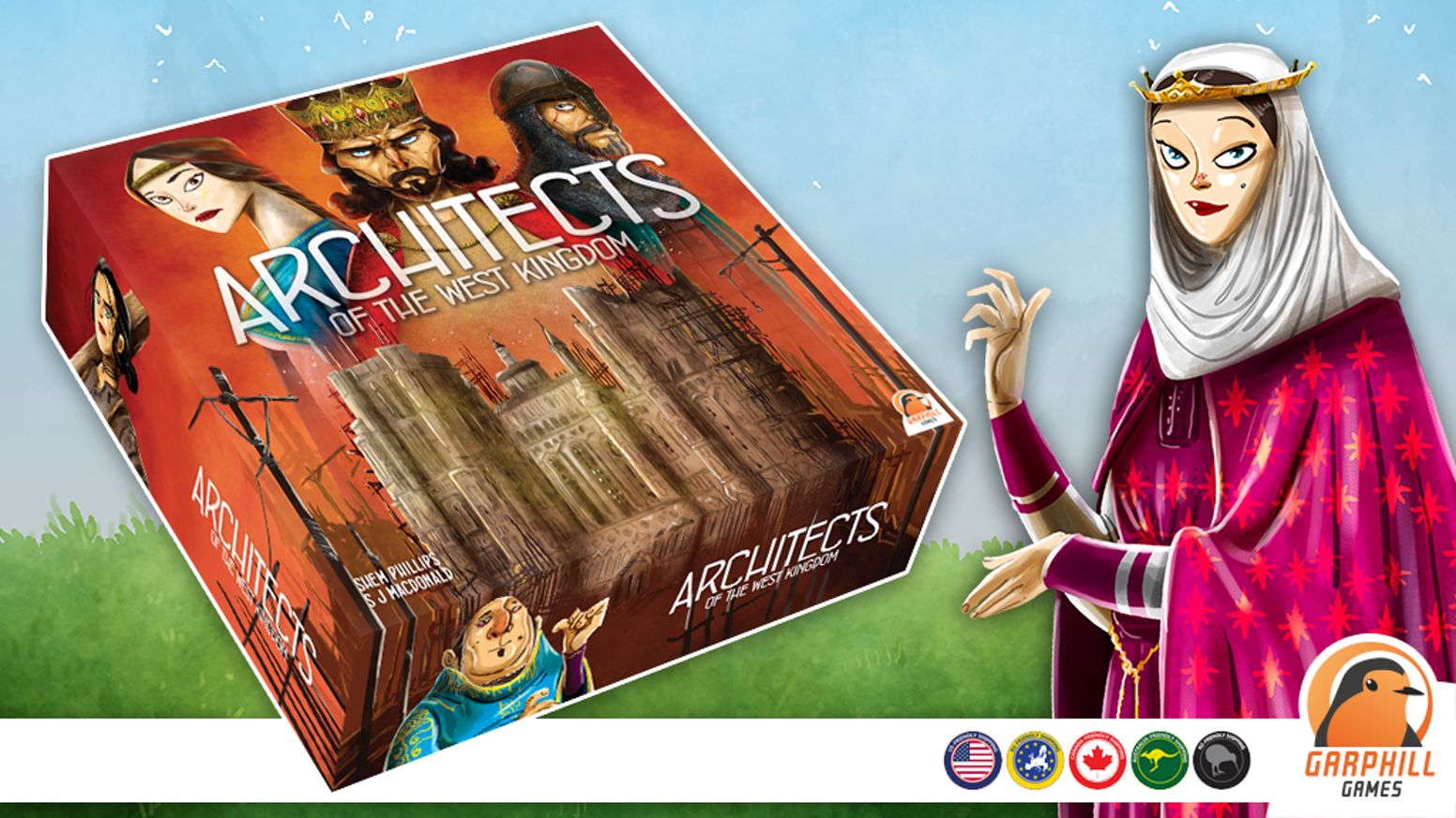 Hire apprentices, construct the cathedral and develop the city in this unique worker placement game for 1-5 players.