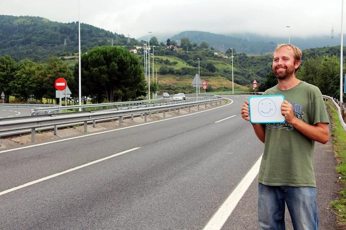 Photo taken by Océane Elnoa while hitchhiking towards Portugal