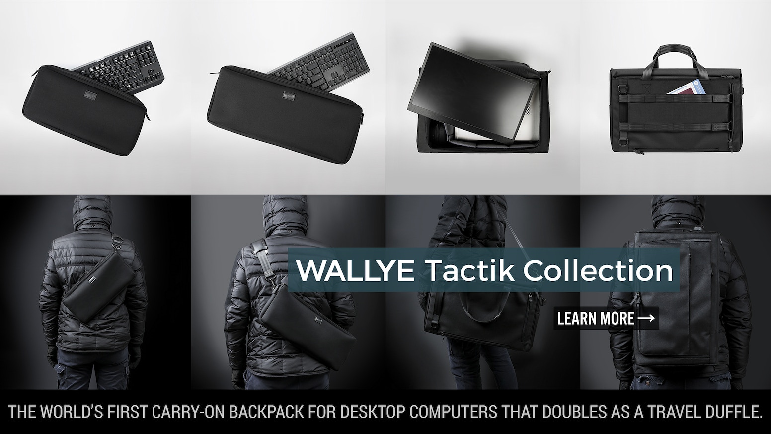 The world's first carry-on backpack for desktop computers that doubles as a travel duffle.